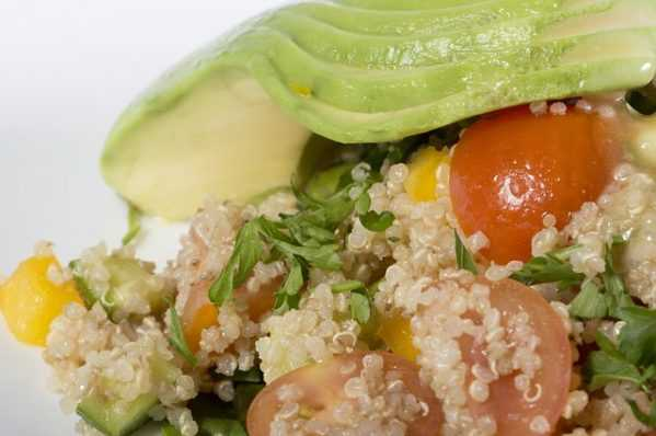 quinoa and  avocado alkaline diet recipe